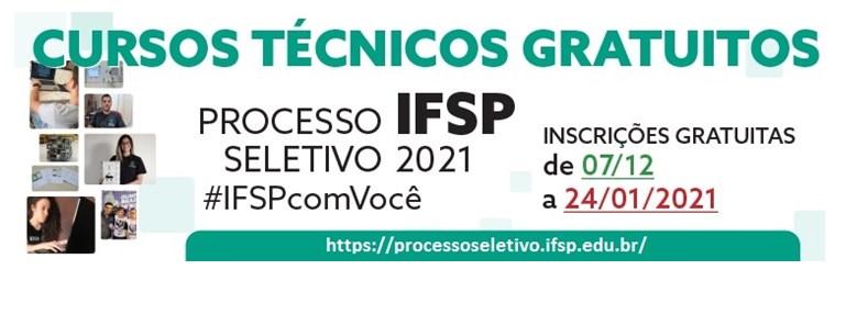 Processo seletivo para cursos técnicos 2021